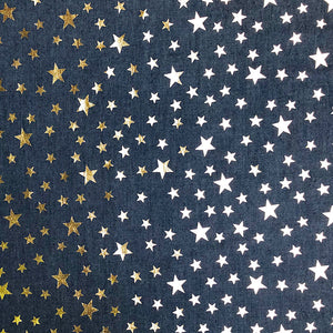 Gold Star Chambray Denim Fabric-Adam Ross Fabrics