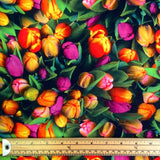 Tulips Cotton Canvas Fabric