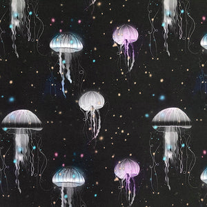 Glowing Jellyfish Organic Cotton Jersey Fabric-Adam Ross Fabrics