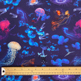Ocean Life Organic Cotton Jersey Fabric