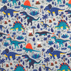 Blue Dinosaurs Cotton Jersey Fabric-Adam Ross Fabrics