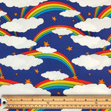 Rainbows Organic Cotton Jersey Fabric