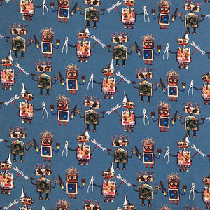 Robots Cotton Jersey Fabric-Adam Ross Fabrics