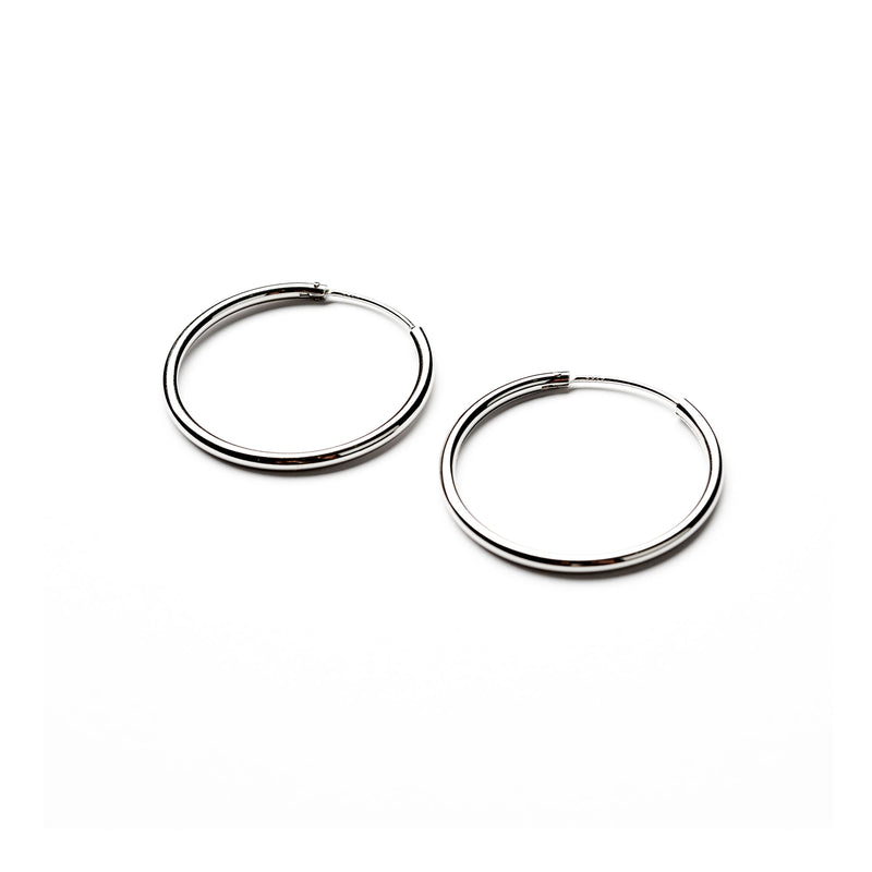 Silver earrings Congo medium, 2 cm