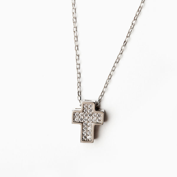 Silver Necklaces Cross