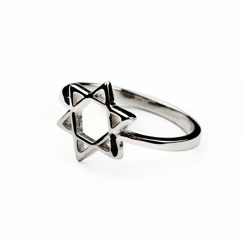 Silver Ring Star of David