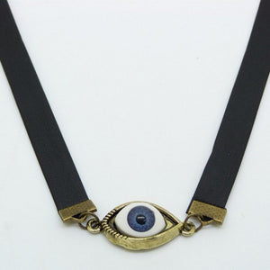 """Eye of Protection"" Leather Neckalce - All Hallow Evening"