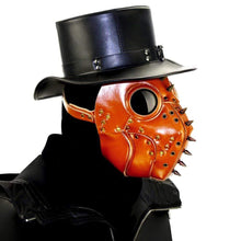"Load image into Gallery viewer, ""Northern Cardinal"" Plague Doctor Mask - All Hallow Evening"