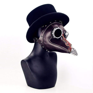 """Classy"" Leather Plague Doctor Mask - All Hallow Evening"