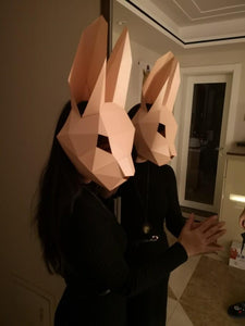 """Bunny"" Origami Mask - All Hallow Evening"