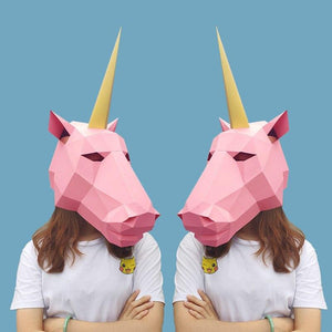 """Unicorn"" Origami Mask - All Hallow Evening"