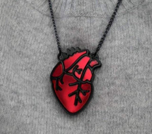 Anatomical Heart Necklace - All Hallow Evening