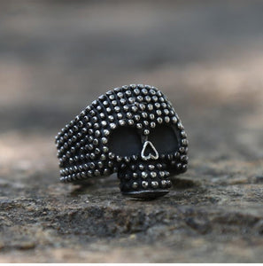 """Dotted"" Skull Ring - All Hallow Evening"