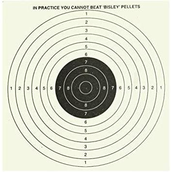 Bull Targets Grade 1 By Bisley(25 Pack) - AirGuns-Liverpool