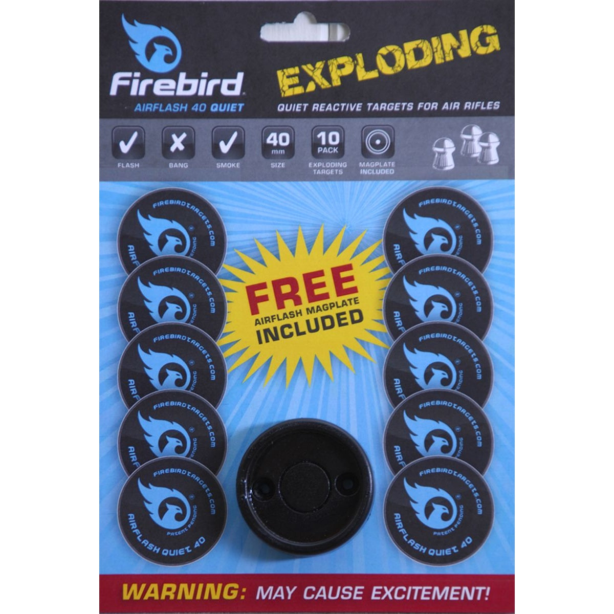 Firebird Airflash 40 Quiet Exploding Targets