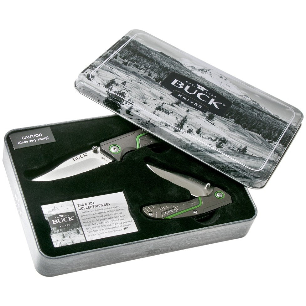 Buck 206 & 207 Liner Lock Knife Combo Collector's Set