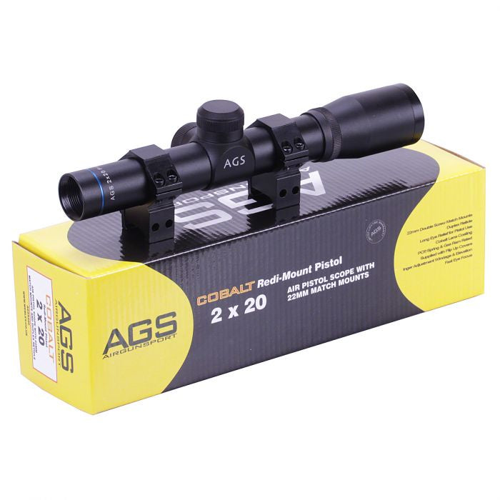 AGS COBALT PISTOL SCOPE 2X20