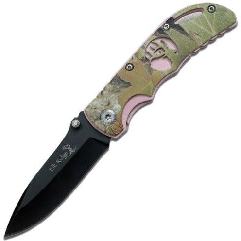 ELK RIDGE FOLDING KNIFE Linerlock Green
