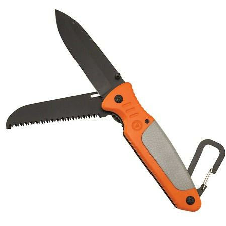 UST  Linerlock 4.0 Gray/Orange Handle Multi Blade Folding Knife