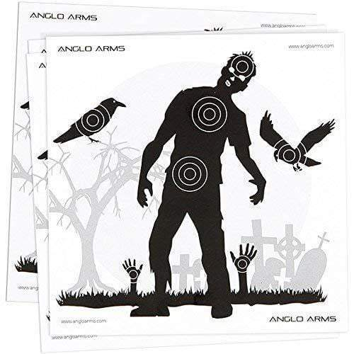 Anglo Arms Paper Targets (pack of 50): Zombie Version - AirGuns-Liverpool