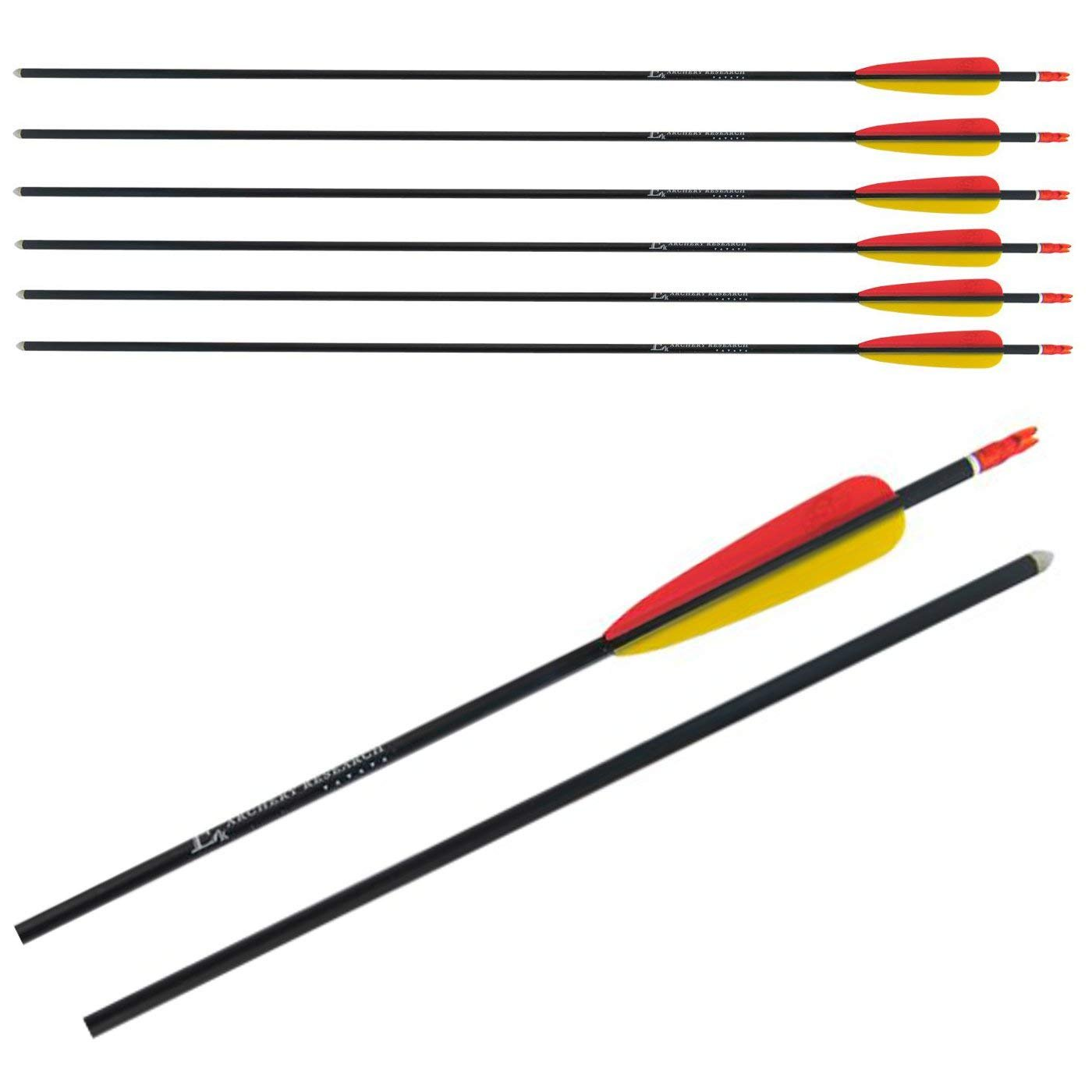 EK Archery Aluminium Arrows 30in Black - AirGuns-Liverpool