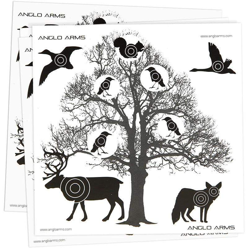 Anglo Arms Paper Targets (pack of 50): Tree Version - AirGuns-Liverpool