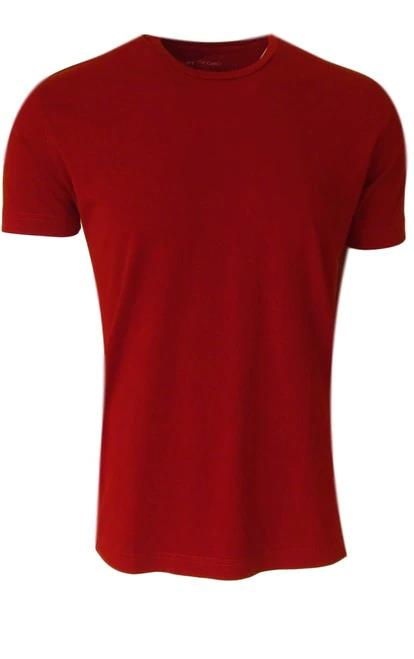 Luxury Crew Neck Short Sleeves Pima Cotton Mens Tshirt Red TCSS-3002