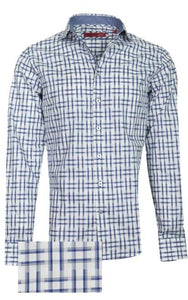 Naples 37013-020M Long Sleeve Luxe Pima Blue Grey