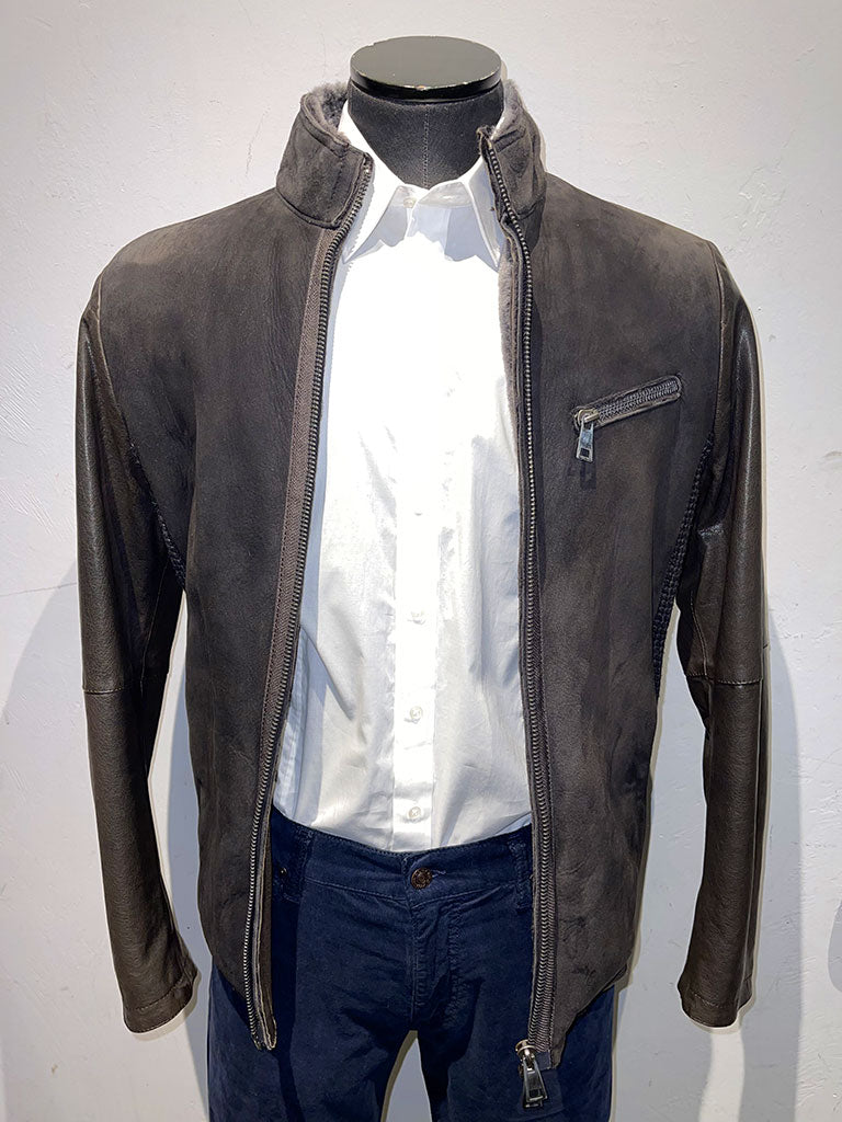 Gimos Leather And Suede Coat