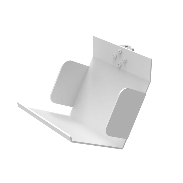 Support à CD en aluminium sur coulisseau (IL-CD) Tablettes en aluminium RHO Blanc
