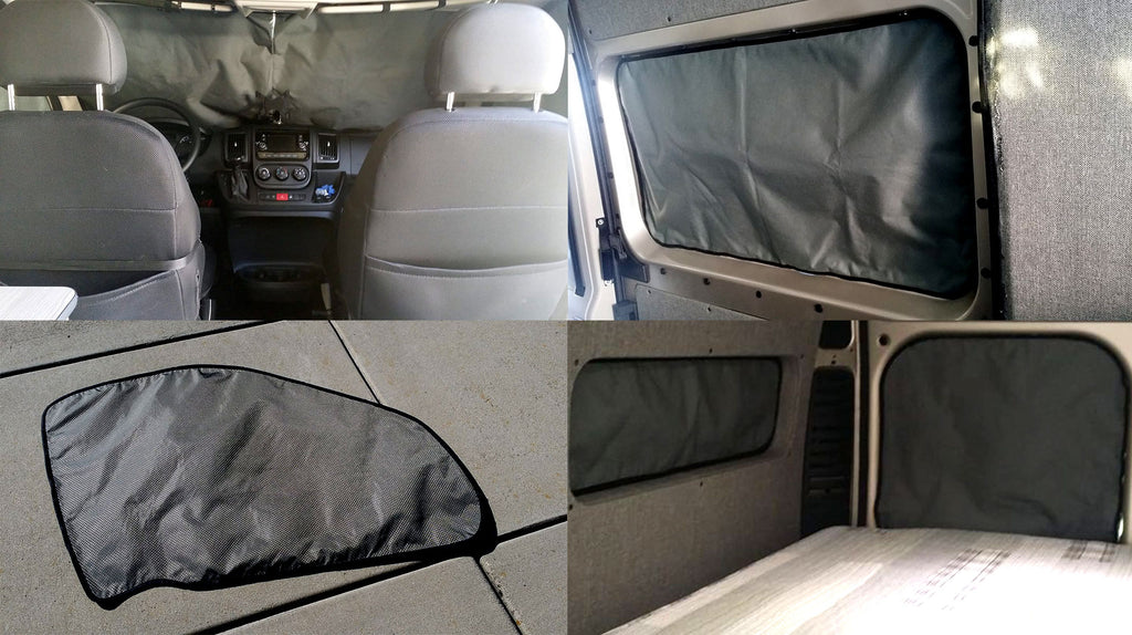 Down By The River insulated window covers Ford Transit