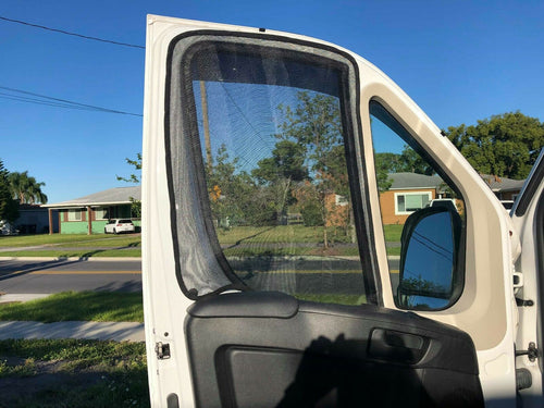 Ram Promaster Front Cab Magnetic Mosquito Screens - Standard / High Roof - Down by the River Curtains