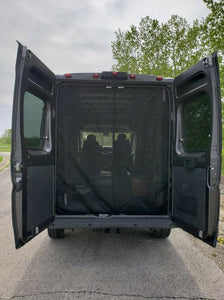 Ram Promaster Rear Door Magnetic Mosquito Screen - Standard / High Roof - Down by the River Curtains