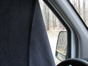Ram Promaster Magnetic Insulated Window Covers - Front Cab - High Roof - Down by the River Curtains
