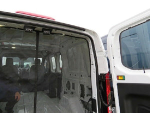 Ford Transit Rear Door Magnetic Mosquito Screen for Low Roof - Down by the River Curtains