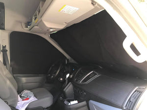 Ford Transit Magnetic Insulated Window Cover - Front Cab/Windshield Set - High Roof - Down by the River Curtains