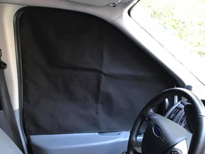 Ford Transit Magnetic Insulated Window Cover - Front Cab - High Roof - Down by the River Curtains