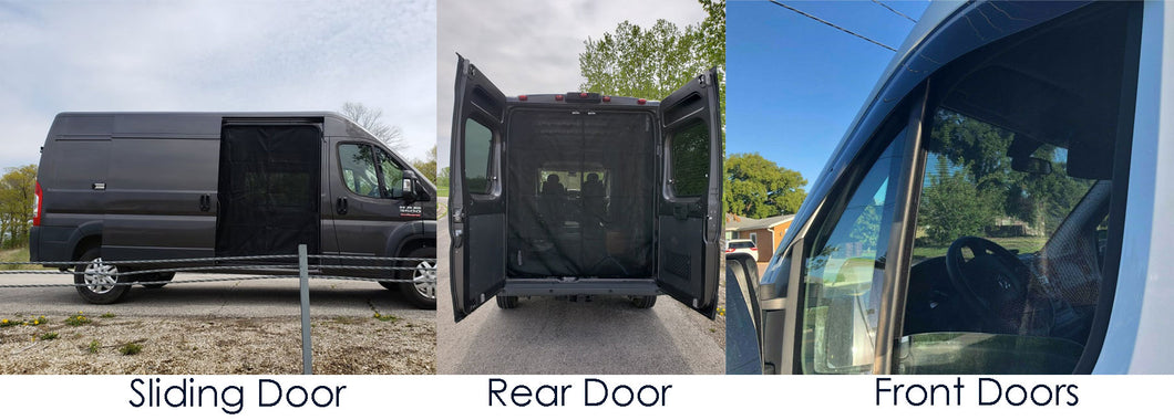 Ram Promaster Bug Screen Package - Down by the River Curtains