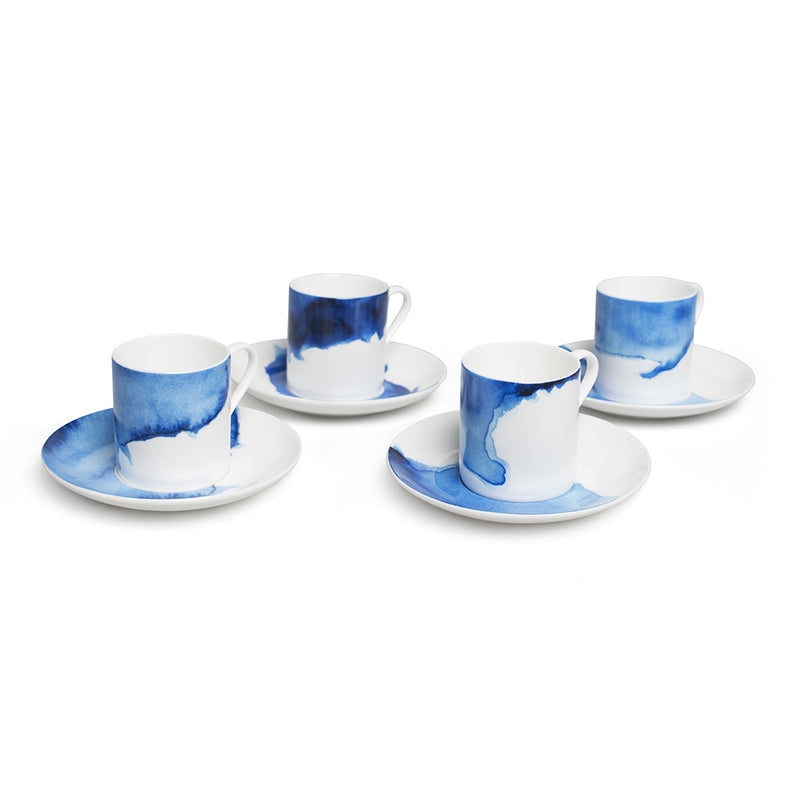 Rick Stein Coves of Cornwall - Set Of 4 Espresso Cups