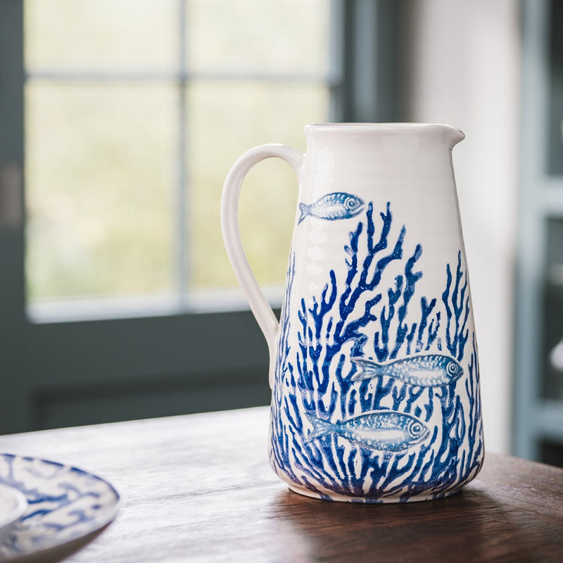 Coral Jug Large - Navy Blue Coral