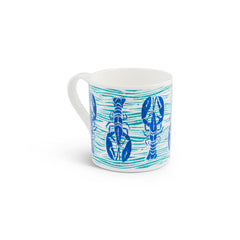 Rick Stein - Set of 2 - Royal blue/navy lobster with a green wave