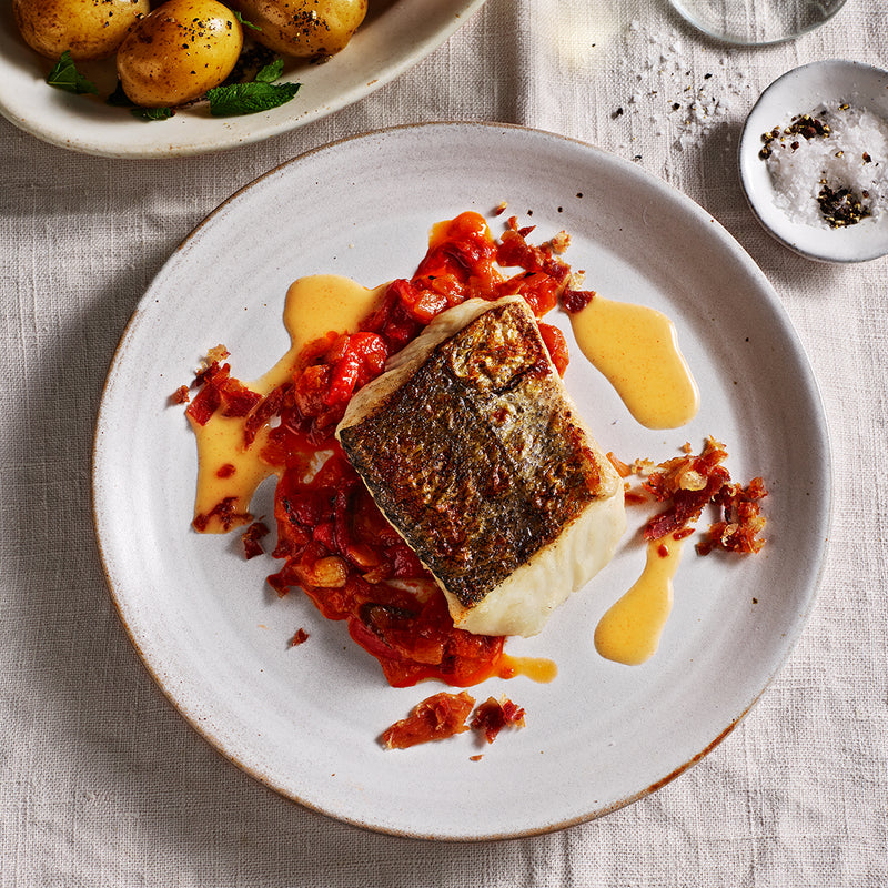Stein's at Home - The hake menu with wine