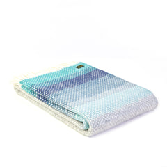 Tweedmill - Ombre Seaside Blue Throw