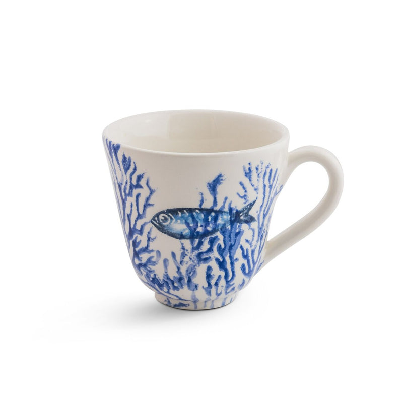 Coral cup - navy blue coral