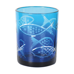 Blue Fish Candle Holder