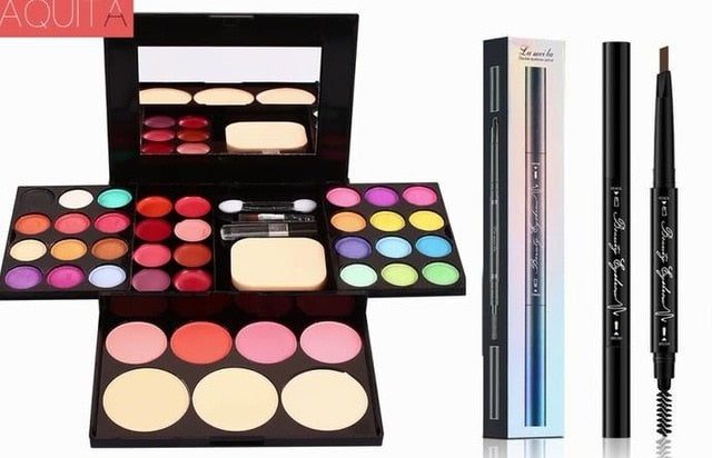 1 Set Color Babe's Eyeshadow Eyebrow pencil Makeup