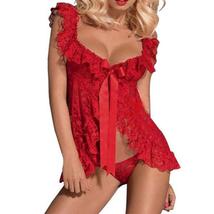 Sexy Lace Lingerie Dress Women Homewear