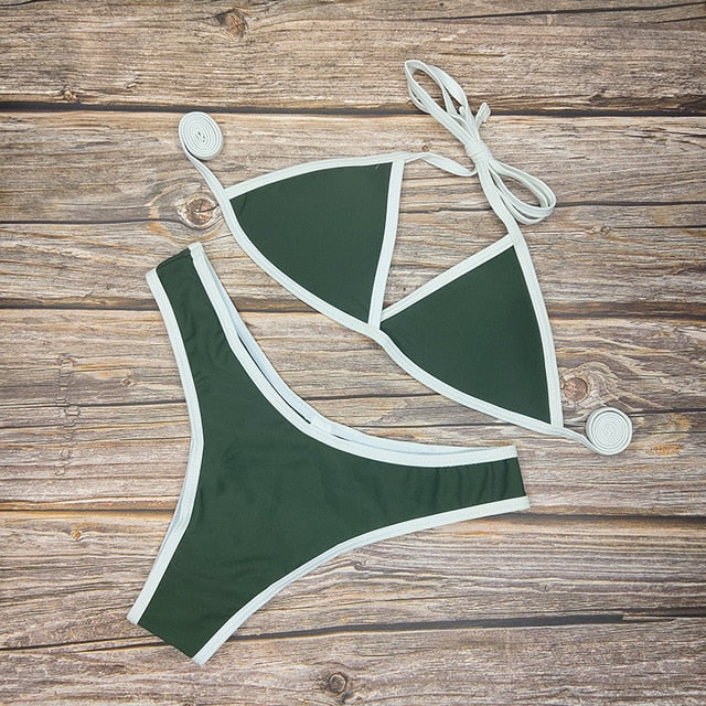 Sexy Bikini Set With Solid Colors