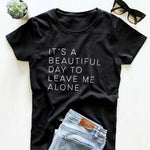 Beautiful Day O Neck Loose T-Shirt