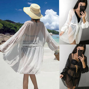 Women Sexy Transparent Bikini Cover Up